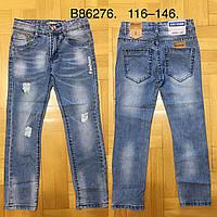 Джинсовые брюки для мальчиков оптом Grace, 116-146 рр, фото 1
