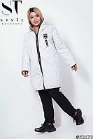 Куртка 1126 с капюшономплащевка +синтипон 48-62