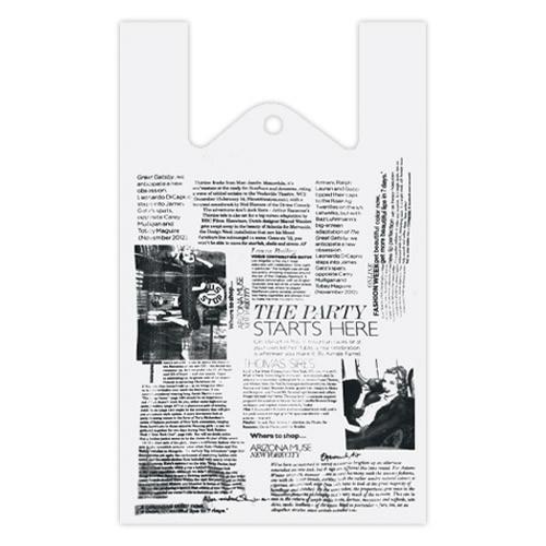 """Пакет майка """"Газета"""" - 28х46, 250 шт"""