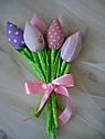 Інтер'єрні тюльпани ручної роботи з натуральних тканин, ціна за штуку, фото 3