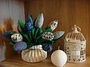 Інтер'єрні тюльпани ручної роботи з натуральних тканин, ціна за штуку, фото 5