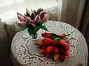 Інтер'єрні тюльпани ручної роботи з натуральних тканин, ціна за штуку, фото 6