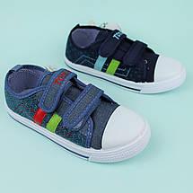 Синие кеды для мальчика на двух липучках цвет синий тм Том.м размер 26,27,28, фото 3