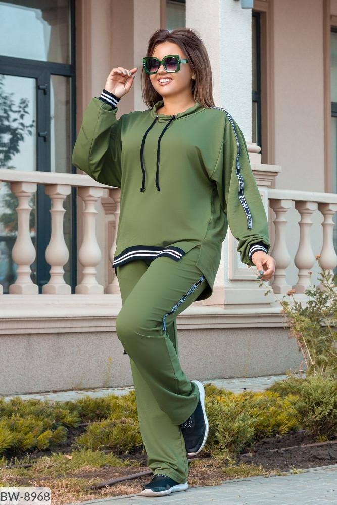 Спортивный костюм женский весенний двунить батал 50 52 54 56 размер Новинка есть цвета