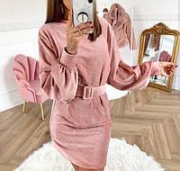Вельветовое платье стиле oversize
