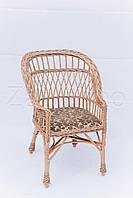 Кресло плетеное с мягкой сидушкой детское | кресло плетеное для дачи | кресло с мягкой сидушкой, фото 1