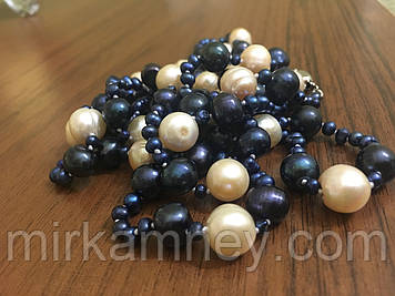 Довгі намиста натуральний перли за вузлик і намистину