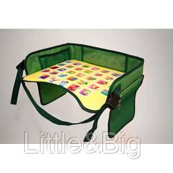 Детский столик для автокресла, зеленый  (EW055)