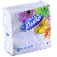 Салфетки бумажные Диво 240240 50шт. белый сп.дв24х25/50