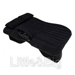 Матрас в машину на заднее сиденье с подушкой цельный (черный)   (EW081)