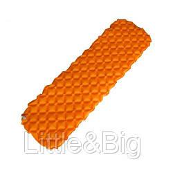 Туристический коврик, матрас надувной, оранжевый  (EW084)