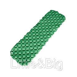 Туристический коврик, матрас надувной, зеленый  (EW085)