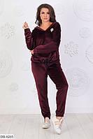 Спортивный костюм женский велюровый батал 52  размер Новинка есть цвета