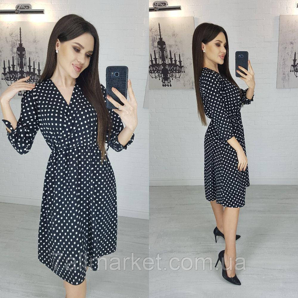"""Сукня жіноча полубатальное в горошок, розмір 50-52 """"LINDA"""" купити недорого від прямого постачальника"""