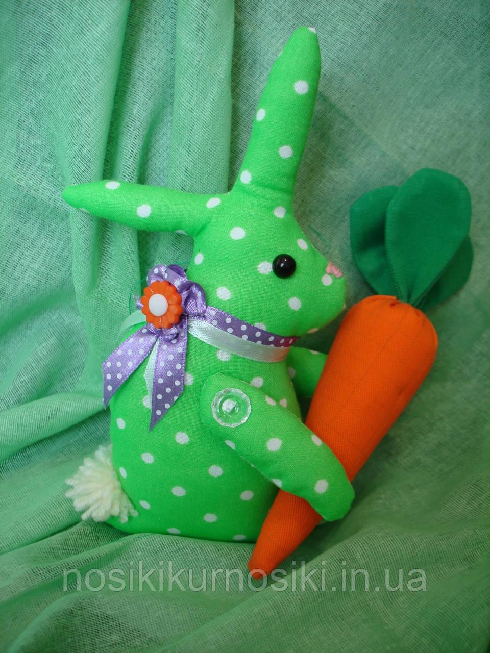 Пасхальный заяц ручной работы из натуральных тканей, цена за штуку