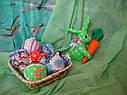 Великодній заєць ручної роботи з натуральних тканин, ціна за штуку, фото 3