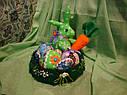Пасхальный заяц ручной работы из натуральных тканей, цена за штуку, фото 4