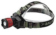 Налобный фонарик Police BL-6908 UF диод Camo
