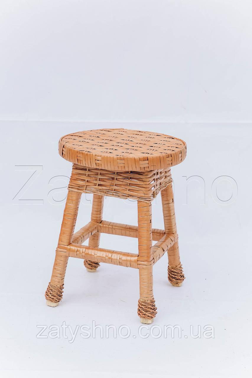 Табуретка детская плетеная ручной работы | табуретка плетеная для дачи | стулья из лозы