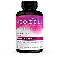 Препарат для восстановления суставов и связок Neocell Super Collagen+C Type 1+3 (120 таб) (102723) Фирменный