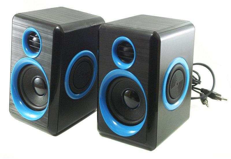 Колонки для ПК компьютерные колонки MHZ FT-165 Black Blue