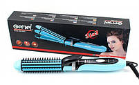 Плойка утюжок для волос 3в1 Gemei GM 2922 Blue, фото 2