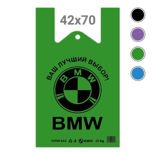 Пакет майка BMW - 42х70, 100 шт