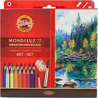 Карандаши цветные Koh-I-Noor MONDELUZ акварельные  художественные 72 цветов (3714)