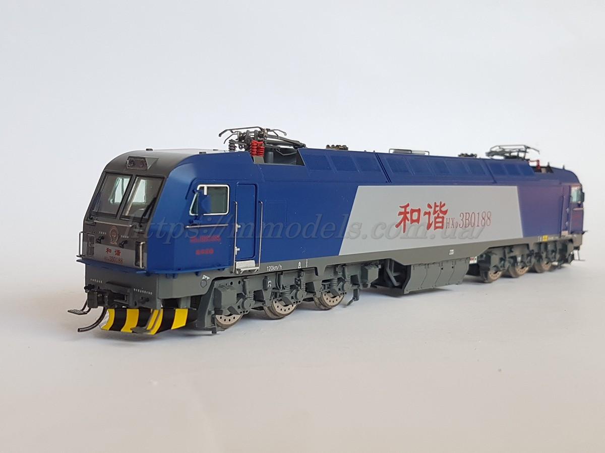MTC модель 6ти осного китайского электровоза Bombardier серии HX3B,масштаба 1/87,H0