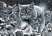 """Картина с бисером СЛ-3167 """"Лунный кот"""""""
