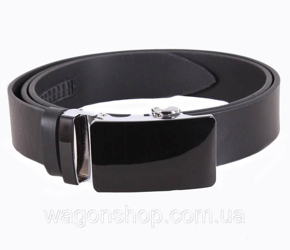 Мужской кожаный ремень Dovhani A111-1 115-125 см Черный
