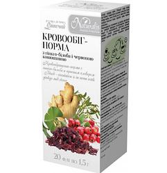 Фиточай Кровообращение-Норма, 20 шт по 1.5 г- улучшает кровобращение