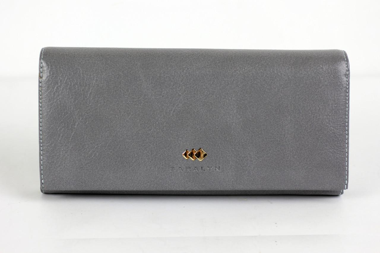 Женский кошелек кожзам серого цвета (20796)