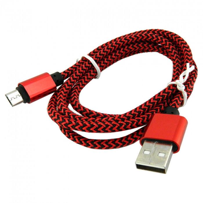 Дата кабель Walker C520 micro USB to USB 1 м Red (hub_mnge44252)