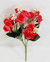 Красный букет розы кронос 28см,искусственный куст для оформления помещения интерьера
