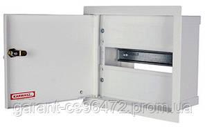 Шафа розподільний e.mbox.RP-6-P-Z мет. вбудовуваний, 6 мод. c замком, 215х150х125 мм