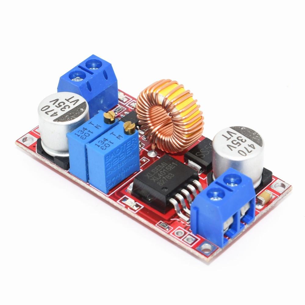 Понижаючий стабілізатор напруги і току 6-38В - 1.25-36В, 0-5А, XL4015 DC