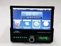 """1din Магнитола Pioneer GBT-7100S RGB 7""""Экран + USB + Bluetooth  ( выдвижной экран вручную)"""