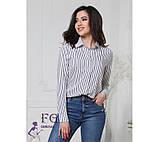 "Жіноча блузка в смужку ""Felicity""| Батал, фото 4"