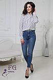"Жіноча блузка в смужку ""Felicity""| Батал, фото 2"