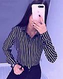 "Жіноча блузка в смужку ""Felicity""| Батал, фото 3"