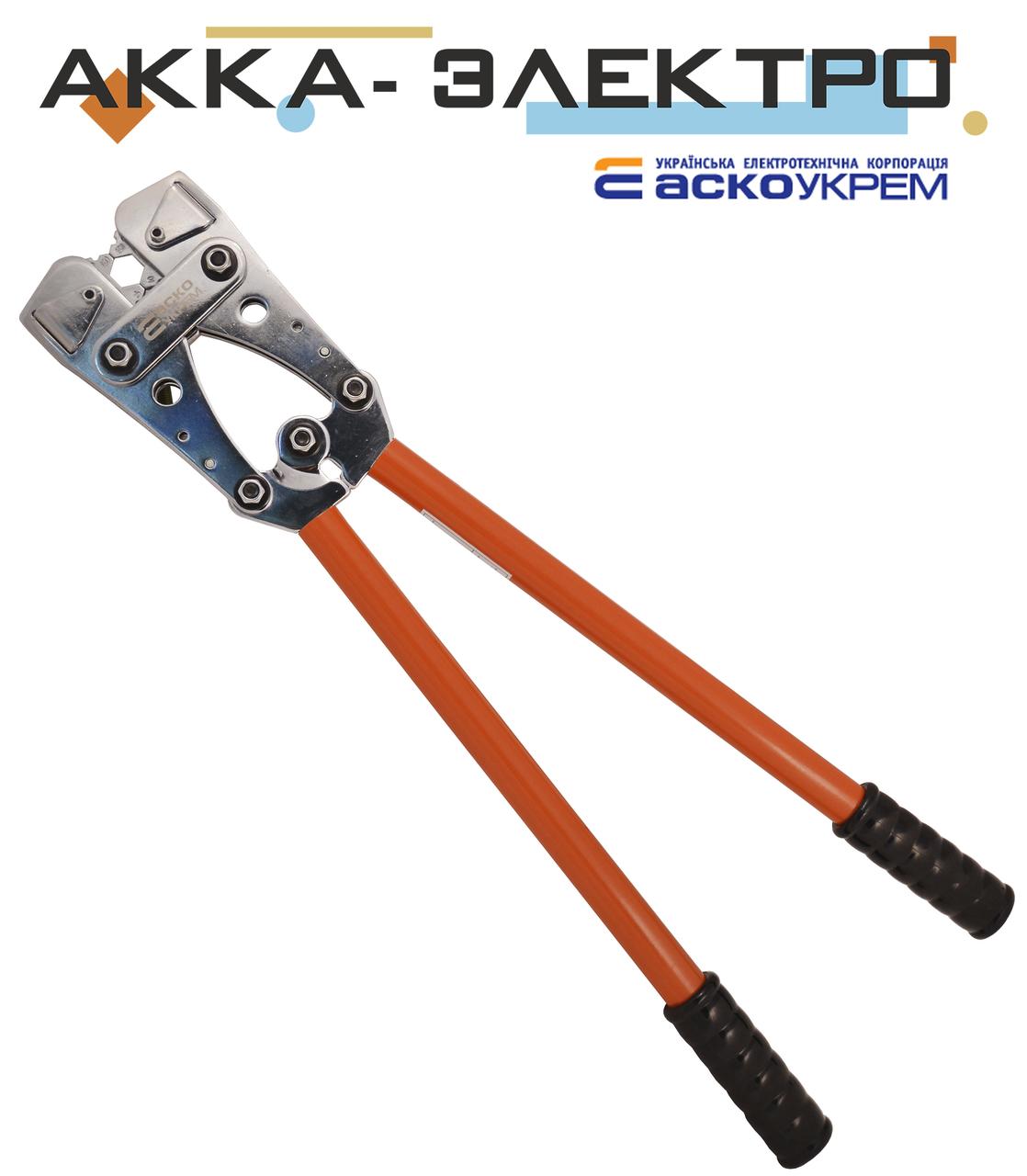 Пресс-клещи механические HX-50B для обжима наконечников и гильз 6-50 мм², АСКО-УКРЕМ