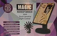 Зеркало с подсветкой косметическое MHZ Magic Makeup Mirror R86667, Pink, фото 5