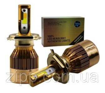 Светодиодные автолампы LED C6 H7 в золотой коробке