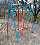 Гойдалка одинарна на жорсткій підвістці для дитячих ігрових майданчиків KidSport, фото 2