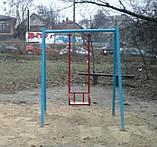 Гойдалка одинарна на жорсткій підвістці для дитячих ігрових майданчиків KidSport, фото 3