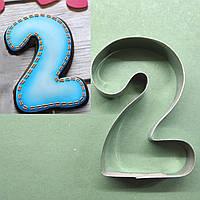 Формочка (вырубка, каттер) Цифра 2, для пряников и печенья