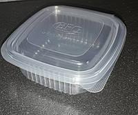 Емкость контейнер HLC-250 с крышкой 250мл 11х11х4,5см 50шт. (12уп/я) РР-для СВЧ, замораживания продуктов