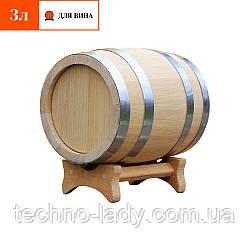 Бочка дубовая для вина 3 литра