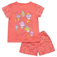 Пижама для девочки летняя шорты и футболка